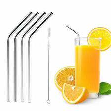 4 x Stainless Steel Straight /bend Straws for 20/30 oz  CUP + 1 Cleaning Brush