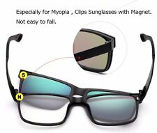 Sunglasses Polarized Magnetic Clip Optical Frame 5 Lenses Man Women Glasses Gift