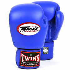 Twins Special Blue Muay Thai Velcro Boxing Gloves - BGVL-3