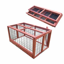 4FT LARGE RABBIT HUTCH RUN / GUINEA PIG / DELUXE PET HUTCHES / CAGE PETS