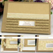 50th Birthday Guest Book Memory Album- Kraft - Add a Name & Message