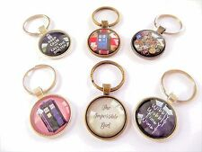 The Doctor themed 25mm glass dome keyring multi listing time travel fandom gift