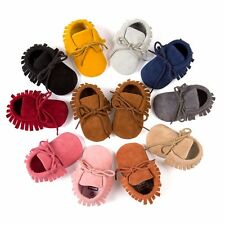 Fashion Tassel Baby Soft Sole PU Suede Leather Shoes Boy Girl Toddler Moccasins