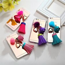Fashion Tassel Leather TPU/Gel Mirror Back Cute Girly Case Cover for iPhone 6 6S