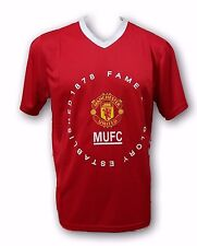 Manchester United Established 1878 Red Color Men's Short Sleeve Jersey By Rhinox