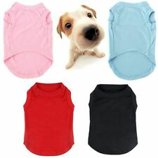 Summer Pet Dog Vest T Shirt Puppy Clothes Cotton Pet Apparel Costume Size XS-3XL