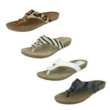 Ladies Leather Collection Toe Post Mule F10500