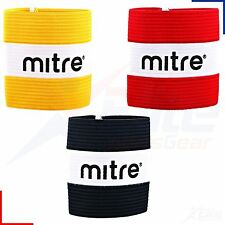 Mitre Captains Armband Football, Rugby, Hockey, Red/Yellow/Black Junior + Senior