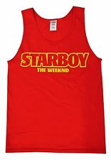 Starboy The Weeknd Tank Top, XO, Red, XO The Weeknd, The Weeknd(Yellow Print)