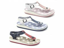 Fantasy Sandals KEFELONIA Womens Ladies Toe Post Flat Buckle Leather Sandals New