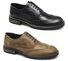 Red Tape BARROW Mens Leather Lace Up Brogue Wingtip Formal Smart Evening Shoes