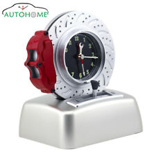 Rotating Brake Disc Alarm Clock With Gearshift Control Button Perfect for Gift