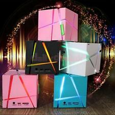 Mini Wireless Portable LED Light Magic Cube Stereo Bluetooth Speaker for iPhone7