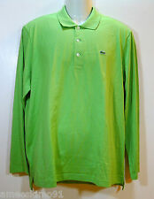 LACOSTE Mens Polo Shirt Long Sleeve Capably Marjolaine Green size sz S 4 NWT NEW