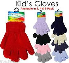 1Pair to 6Pack New Children Winter Kids Woolly Knitted Warm Magic Unisex Gloves