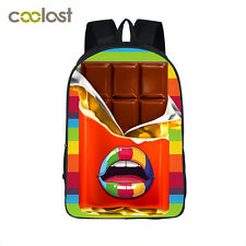 "16"" Girls School Bags Backpack Rucksack Book Bag -NEW Travel Bags Sweetmeats"