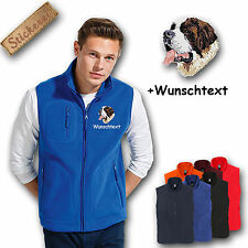 Fleece vest Fleece Vest Embroidered Embroidery Dog Saint bernard dog + Name
