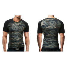Casual Top Shirt Short Sleeve Camouflage T-Shirt  Slim Fit  New Fashion