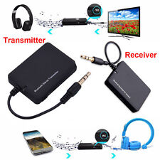 Bluetooth Wireless Stereo Audio Music Receiver/Transmitter Adapter Dongle 3.5mm