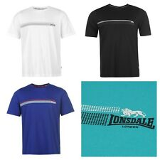 New Mens Lonsdale London 2 Stripe Casual Crew Neck T Shirt Boxing Top Size S-4XL