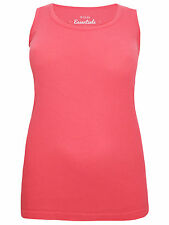 New Ladies Ex Yours Clothing Coral Ribbed Vest Top Plus Size 16 - 32