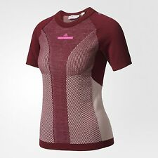 adidas by Stella McCartney WOMEN RUN ULTRA SEAMLESS TEE,CHERRY WOOD- XS,S,M Or L