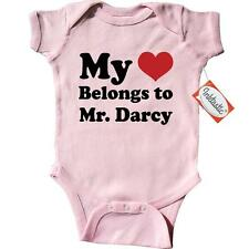 Inktastic Mr. Darcy Heart Infant Creeper Mr. Jane Austen Pride And Prejudice Fan