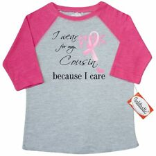 Inktastic I Wear Pink For My COUSIN Toddler T-Shirt Support Ribbon Breast Cancer