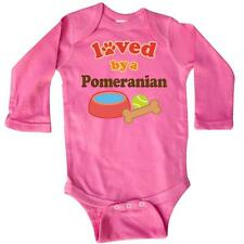 Inktastic Pomeranian Lover Long Sleeve Creeper Dogs Pets Mom Loved By Dog Animal