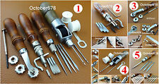 5kind Leather Craft Sewing 4in1 Lock Thread Awl Crease Groover Over Stitch Wheel