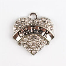 CHEER Heart Love Crystal Pendant Charm DIY Necklace Bracelet Party Wedding Gift
