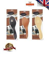 SHOE INSERTS FOR LADIES AND MEN NEW LEATHER INSOLES BLACK BROWN CREAM All SIZES