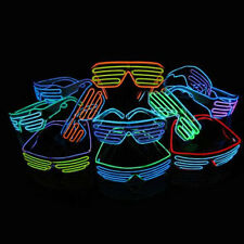 New EL Wire Shutter Glasses Battery/Sound Activaed Glowing Shades Rave EDM