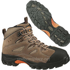 Wolverine WORK BOOTS Hudson Mid-Cut Steel Toe EH SR Hiker W02194 Brown/ Black