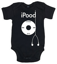 """IiE, """"iPood"""" MP3 Player Funny Baby Boy Girl Bodysuit Babygrows Clothes Gift"""
