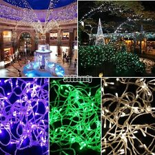 10M 100LED Bulbs Christmas Fairy Party String Lights Waterproof B5UT