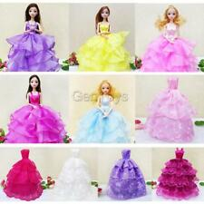 Handmade Strapless Gown Bridal Wedding Dress Clothes for Barbie Doll Girls Gifts