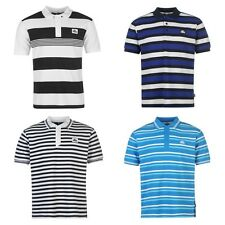 Lonsdale Yard Stripe Polo Shirt Mens Stylish Look T Shirt Top All Sizes S - XXXL