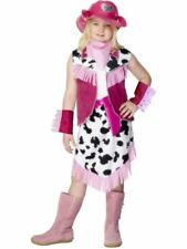 Girls Childrens Pink Rodeo Cowgirl Wild West Fancy Dress Costume Book Day