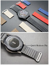 18mm Magnetic Real Leather Loop Watch Band Strap Bracelet For Huawei Smart Watch