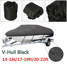 14-16Ft 21 24ft 600D Heavy Duty Waterproof Trailable Fish Ski Boat Cover EW