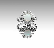 925 Sterling Silver Ring with Natural White Opal Round Cut Gemstone eBay.