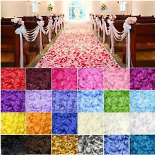 100 Silk Fabric Rose Petals–Engagement, Wedding Table Confetti Decorations