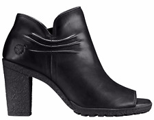 Timberland Women's Glancy Ruched Peep Toe High Heel  Boots Bootie Black  A1FJH