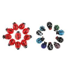 10pcs Hand Crafted Lampwork Glass Ladybug Bead Spacers 12mm for Jewelry Making