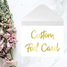 Custom Card / Silver Gold or Copper Personalised Gift Card with envelope / Cards