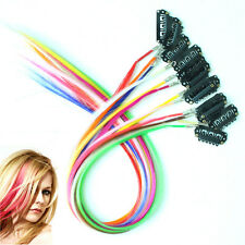 """12pcs/Lot BB Clip in Multicolor Synthetic Grizzly Feather Hair Extensions 16"""""""