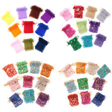 100 pieces Organza Party Favor Gift Candy Bags Jewelry Pouches for Wedding