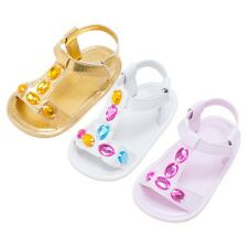 Summer Baby Crystal Shoes Infant Girls Toddler Crib Shoes Sandal Prewalker 0-18M