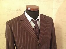 Doctor Who 10th Doctor Brown/ Blue Pinstripe Suit Costume Prop Replica